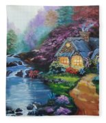 Reflections Cottage Fleece Blanket