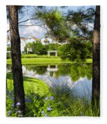 Reflections In A Tranquil Pond Fleece Blanket