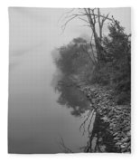 Reflections In Black And White Fleece Blanket