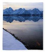 Reflections In Jackson Lake Fleece Blanket