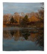 Reflections In My Favorite Pond Fleece Blanket