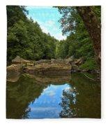 Reflections In Slippery Rock Creek Fleece Blanket