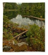 Reflections In Starvation Lake Fleece Blanket