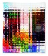 Reflections In Technicolor Fleece Blanket