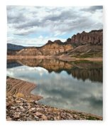 Reflections In The Blue Mesa Fleece Blanket
