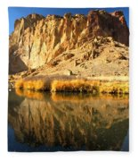 Reflections In The Crooked River Fleece Blanket