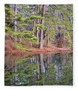 Reflections In The Pines Fleece Blanket