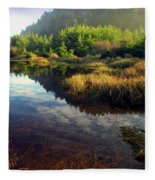 Reflections In The Pond Fleece Blanket