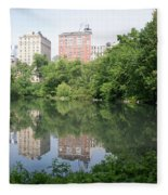 Reflections In The Pool Fleece Blanket