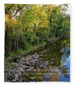 Reflections In The Stream Fleece Blanket