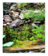 Reflections In The Stream Fleece Blanket