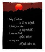 Reflections In Twilight Fleece Blanket