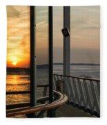 Reflections Of A Chesapeake Sunset Fleece Blanket