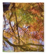 Reflections Of A Colorful Fall 002 Fleece Blanket