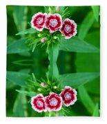 Reflections Of A Summer Bouquet Fleece Blanket