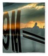 Reflections Of A Sunset Flight Fleece Blanket