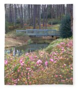 Reflections Of A Walking Bridge Fleece Blanket