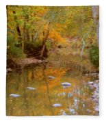 Reflections Of An Autumn Day Fleece Blanket