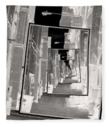 Reflections Of An Infrared Alley Fleece Blanket