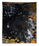 Reflections Of Autumn Fleece Blanket