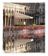 Reflections Of Saint Mark's Square -day Fleece Blanket