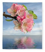 Reflections Of Spring At Apple Blossom Time Fleece Blanket