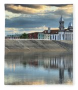Reflections Of The Courthouse Fleece Blanket