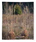 Reflections Of Winter Past 2014 Fleece Blanket