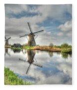 Reflections Of Wndmills Fleece Blanket