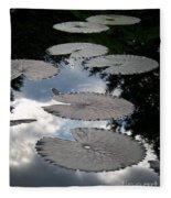 Reflections On A Lily Pond Monet Fleece Blanket