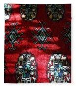 Reflections On A Persian Rug Fleece Blanket