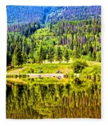 Reflections On A Summer Day - Vail - Colorado Fleece Blanket