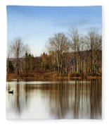 Reflections On Golden Pond Fleece Blanket
