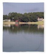 Reflections - On - Lake Weir Fleece Blanket