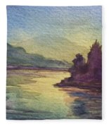 Reflections On North South Lake Fleece Blanket