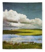 Reflections On Watership Down Fleece Blanket