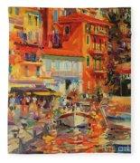 Reflections - Villefranche Fleece Blanket