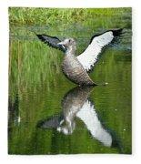 Reflective Loon Fleece Blanket