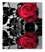 Reflective Red Rose Fleece Blanket