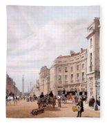 Regent Street, Looking Towards The Duke Fleece Blanket