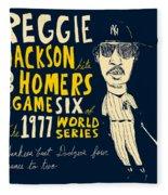 Reggie Jackson New York Yankees Fleece Blanket