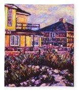 Rehoboth Beach Houses Fleece Blanket