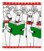 Reindeer Choir Fleece Blanket