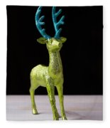 Reindeer Christmas Card Fleece Blanket