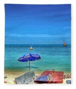 Relax On The Beach Fleece Blanket
