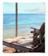 Relax Porch Fleece Blanket