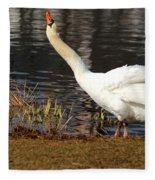 Relaxed Swan Fleece Blanket