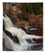 Relaxing Autumn Falls Fleece Blanket