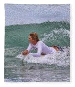 Relaxing In The Surf Fleece Blanket