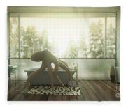 Relaxing Octopus...  Fleece Blanket